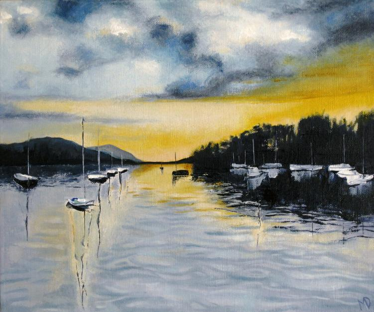 Sunset on Windermere by Martin Davis