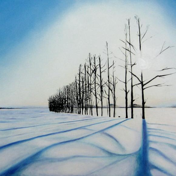 Snow trees II by Martin Davis