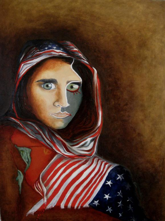 Afghan Girl (Revisited) by Martin Davis